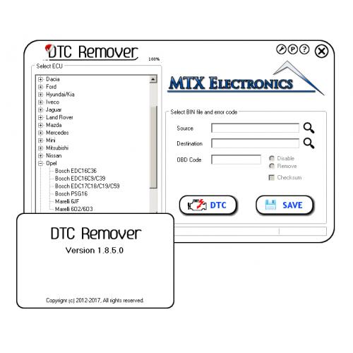 DTC Remover v.1.8.5.0 buy at chiptunecu.ru