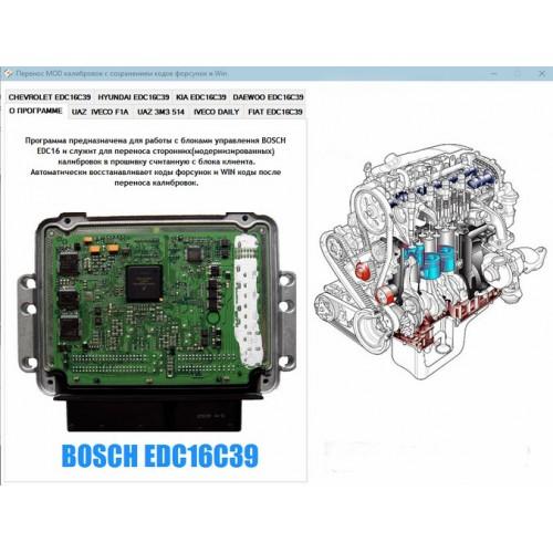 Идентификация и перенос калибровок и данных в ЭБУ EDC16C39 UAZ IVECO F1A и ZMZ-514